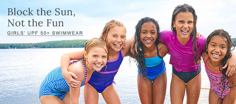 Girls' UPF 50+ Swimwear