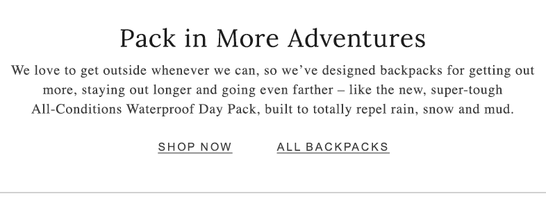 Pack in More Adventures
