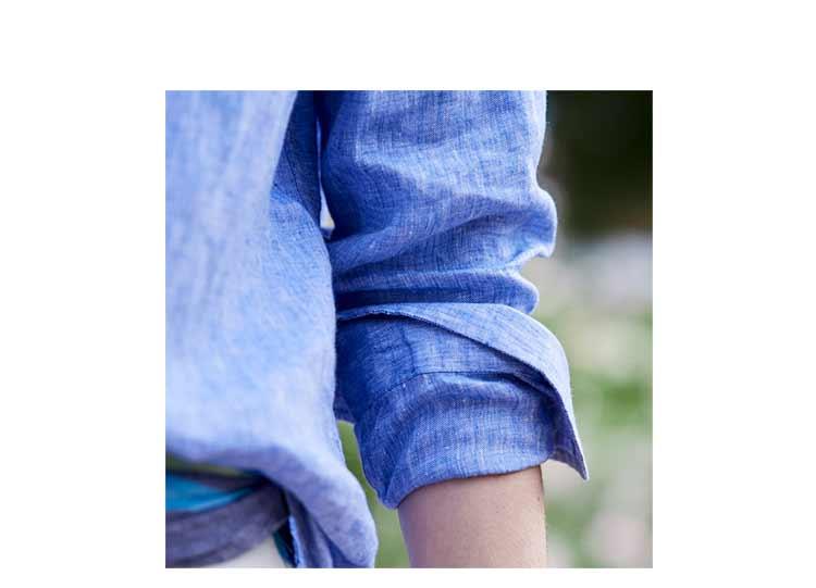 close up of linen shirt