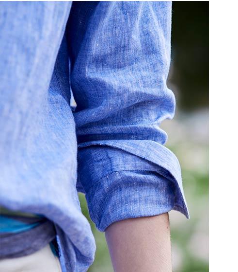 close-up of Linen Shirt.