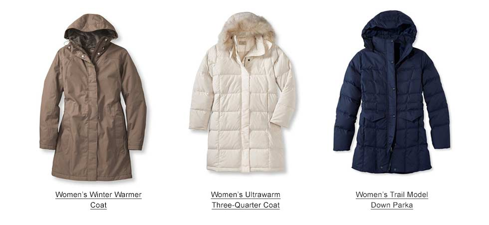 Selection of Women's Winter Coats and Jackets.