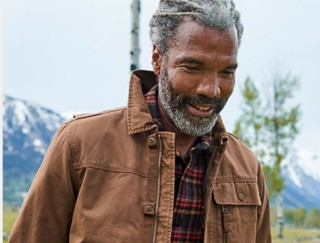Close-up of smiling man outside in L.L.Bean Outerwear