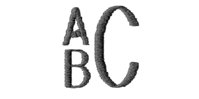 Image of Block Stack monogram style.