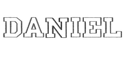 Image of Athletic monogram style