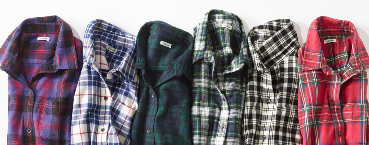 Assortment of flannel shirts