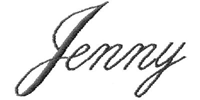 Image of Thin Script monogram style.