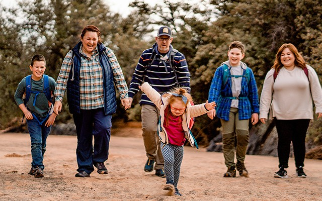 L.L.Bean Ambassador Melody Forsyth and her family.