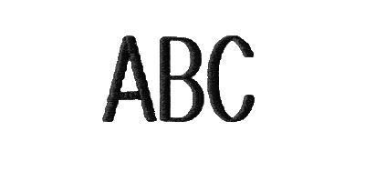 Image of Block monogram style.