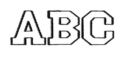Image of Athletic monogram style.