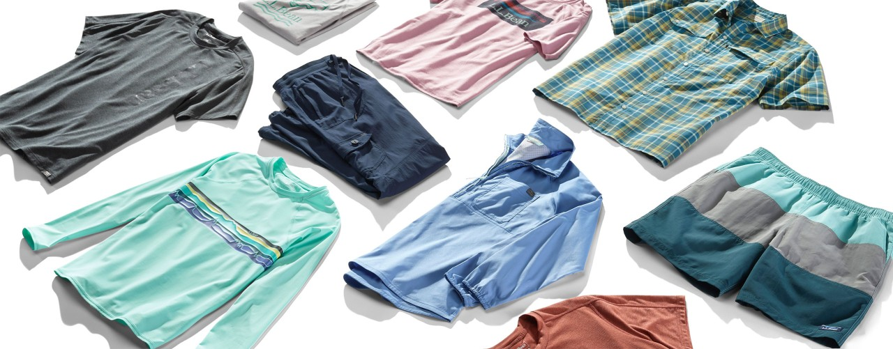 Assortment of summer clothing