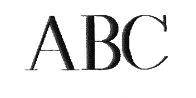 Image of Times Bold monogram style.