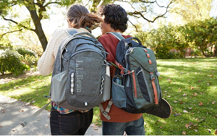 two older students with L.L.Bean Backpacks