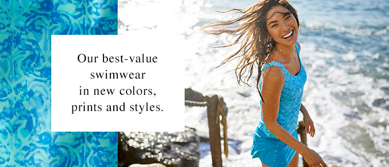 BeanSport Swimsuits. Our best-value swimwear in new colors, prints and styles.