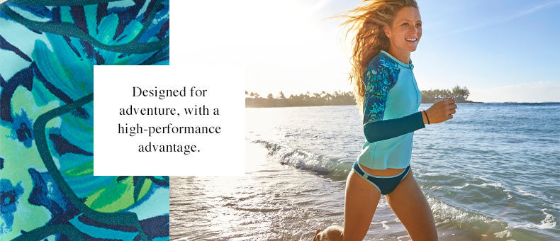 L.L.Bean Active Swimwear. Designed for adventure, with a high-performance advantage.