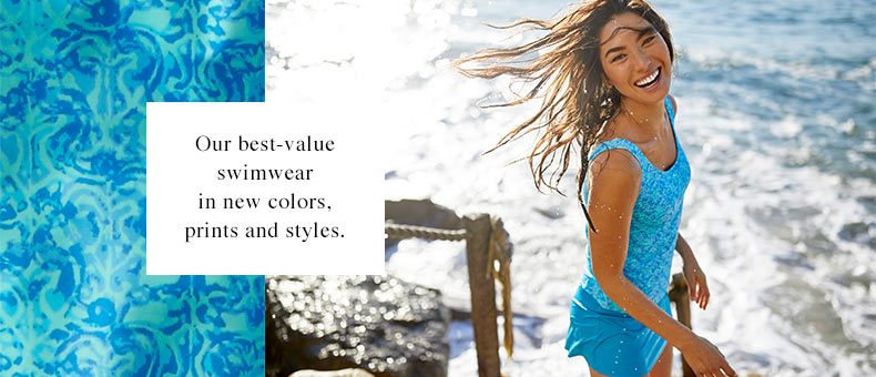 BeanSport Swimsuits. Our best-value swimwear in new colors, prints and styles..