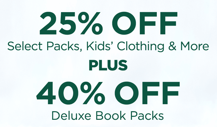 Deluxe Book Packs. 40% OFF.